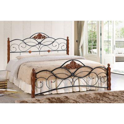 Кровать Canzona 160х200 см черный/красный дуб