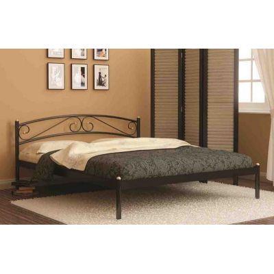 Кровать односпальная Валерия без изножья (90х200/металлическое основание) Белый