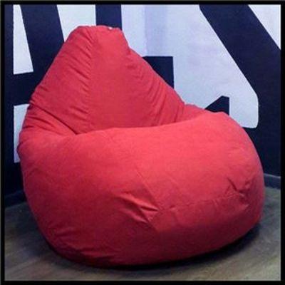 """Кресло мешок Аполена (Красный микровельвет) XL 125x85"""""""