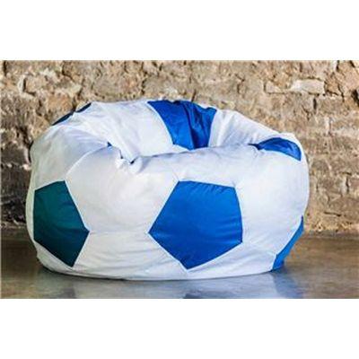 Кресло Мяч Бело-Голубой Оксфорд