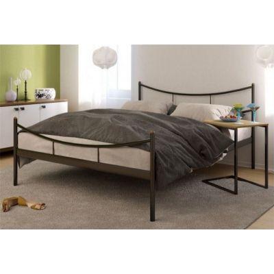 """Кровать односпальная """"LUNA"""" (120х200/металлическое основание) Черный"""