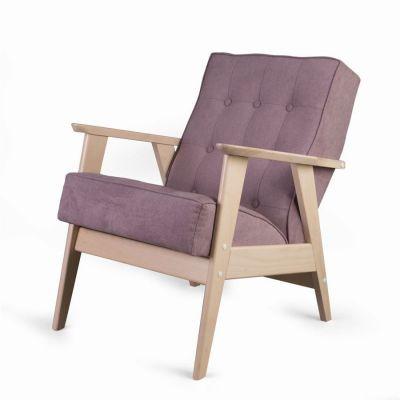 Кресло РЕТРО (беленый дуб / RS 12 - розовый)