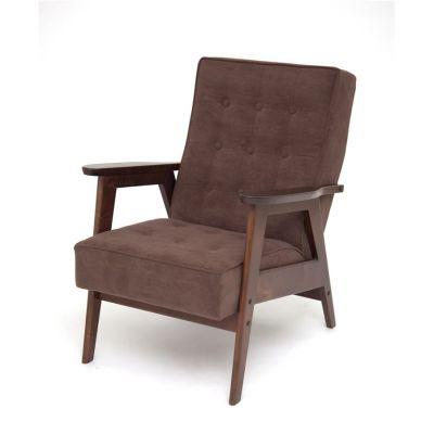 Кресло РЕТРО (темный тон / RS32 - коричневый)