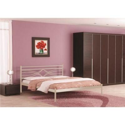 Кровать Мираж (120х200/металлическое основание) Бежевый