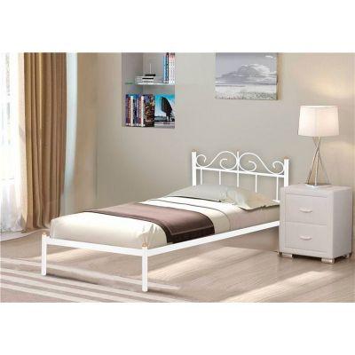 """Кровать односпальная """"Розана"""" (90х200/металлическое основание) Белый"""