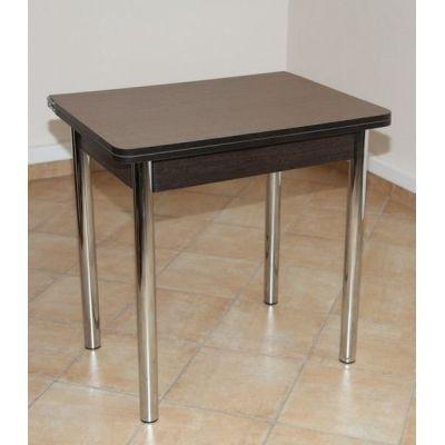 Стол обеденный ЛС-831 (столешница Береза Эрмана темная/ ноги Хром)
