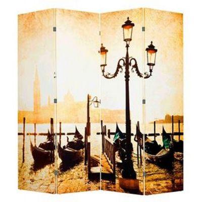 Ширма 1201-4 «Набережная Венеции» (4 панелей)