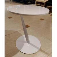Приставной столик MK-6328-WT Хром/белый